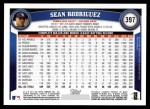 2011 Topps #397  Sean Rodriguez  Back Thumbnail