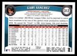 2011 Topps #312  Gaby Sanchez  Back Thumbnail