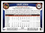 2011 Topps #352  Colby Lewis  Back Thumbnail