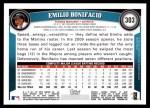 2011 Topps #303  Emilio Bonifacio  Back Thumbnail