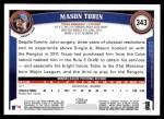 2011 Topps #343  Mason Tobin  Back Thumbnail