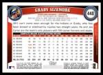 2011 Topps #440  Grady Sizemore  Back Thumbnail