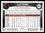 2011 Topps #422  Juan Pierre  Back Thumbnail