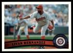2011 Topps #451  Livan Hernandez  Front Thumbnail
