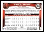 2011 Topps #454  Alberto Callaspo  Back Thumbnail