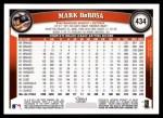 2011 Topps #434  Mark DeRosa  Back Thumbnail