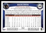 2011 Topps #588  Rajai Davis  Back Thumbnail