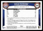 2011 Topps #543   Rangers Team Back Thumbnail