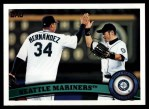 2011 Topps #589   Mariners Team Front Thumbnail