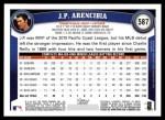 2011 Topps #587  J.P. Arencibia  Back Thumbnail