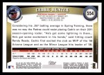 2011 Topps #554  Cedric Hunter  Back Thumbnail