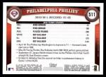 2011 Topps #511   Phillies Team Back Thumbnail