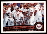 2011 Topps #511   Phillies Team Front Thumbnail