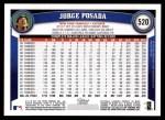 2011 Topps #520  Jorge Posada  Back Thumbnail