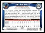 2011 Topps #620  Luke Hochevar  Back Thumbnail