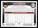 2011 Topps #622  Matt Thornton  Back Thumbnail