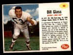 1962 Post Cereal #49  Bill Glass  Front Thumbnail