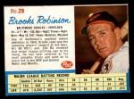 1962 Post #29  Brooks Robinson   Front Thumbnail