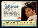 1962 Post Cereal #45  Chuck Essegian   Front Thumbnail