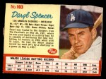 1962 Post #103  Daryl Spencer   Front Thumbnail