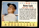 1963 Post Cereal #46  Norm Cash  Front Thumbnail