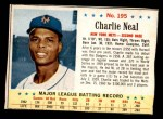 1963 Post #195  Charlie Neal  Front Thumbnail