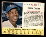 1963 Jello #169  Ernie Banks  Front Thumbnail