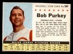 1961 Post #184 BOX Bob Purkey  Front Thumbnail
