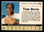 1961 Post #165  Tommy Davis   Front Thumbnail