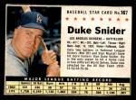 1961 Post #167 BOX Duke Snider   Front Thumbnail