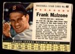 1961 Post #48 BOX Frank Malzone   Front Thumbnail