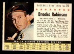 1961 Post #75 COM Brooks Robinson   Front Thumbnail