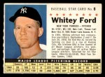 1961 Post #6 COM Whitey Ford   Front Thumbnail