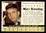 1961 Post #77 COM Marv Breeding   Front Thumbnail