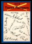 1973 O-Pee-Chee Blue Team Checklist #24   Rangers Team Checklist Front Thumbnail