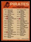 1973 O-Pee-Chee Blue Team Checklist #20   Pirates Team Checklist Back Thumbnail