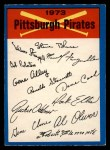 1973 O-Pee-Chee Blue Team Checklist #20   Pirates Team Checklist Front Thumbnail
