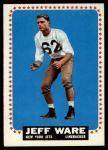 1964 Topps #128  Jeff Ware  Front Thumbnail