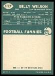 1960 Topps #117  Billy Wilson  Back Thumbnail