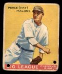 1933 Goudey #55  Pat Malone  Front Thumbnail