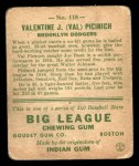 1933 Goudey #118  Val Picinich  Back Thumbnail