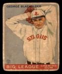 1933 Goudey #16  George Blaeholder  Front Thumbnail