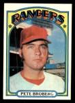 1972 Topps #64  Pete Broberg  Front Thumbnail