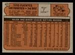 1972 Topps #427  Tito Fuentes  Back Thumbnail