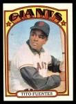 1972 Topps #427  Tito Fuentes  Front Thumbnail