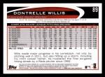2012 Topps #89  Dontrelle Willis  Back Thumbnail