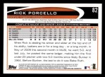 2012 Topps #82  Rick Porcello  Back Thumbnail