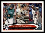 2012 Topps #119   -  Ichiro Suzuki / Joe Mauer / Vladimir Guerrero Active AL Batting Leaders Front Thumbnail