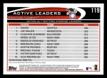 2012 Topps #119   -  Ichiro Suzuki / Joe Mauer / Vladimir Guerrero Active AL Batting Leaders Back Thumbnail