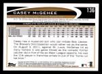 2012 Topps #136  Casey McGehee  Back Thumbnail